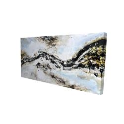 Toile 24 x 48 - 3D - éclats de peinture abstraite et texturées