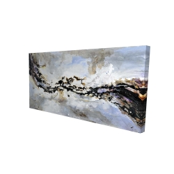 Canvas 24 x 48 - 3D - Texturized abstract wave
