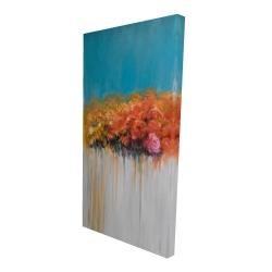 Canvas 24 x 48 - 3D - Orange flowers bundle