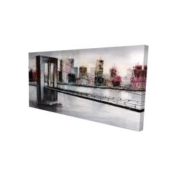 Canvas 24 x 48 - 3D - Abstract bridge cityscape
