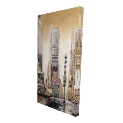 Canvas 24 x 48 - 3D - Times squaare with skyscrapers