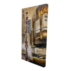 Toile 24 x 48 - 3D - Rue de grande ville par un jour gris