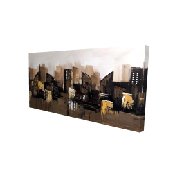 Canvas 24 x 48 - 3D - Brown abstract cityscape