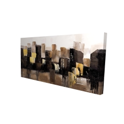 Canvas 24 x 48 - 3D - Earthy tones abstract cityscape