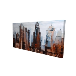 Canvas 24 x 48 - 3D - Sullen day in the city