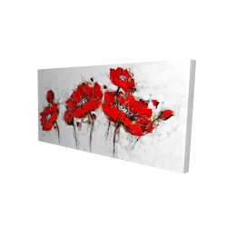 Canvas 24 x 48 - 3D - Abstract poppy flowers