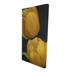 Canvas 24 x 48 - 3D - Two daffodils flowers
