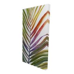 Canvas 24 x 48 - 3D - Watercolor tropical palm leave