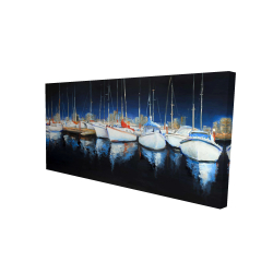 Canvas 24 x 48 - 3D - Evening at the marina