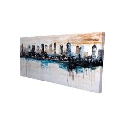 Canvas 24 x 48 - 3D - Buildings on the horizon