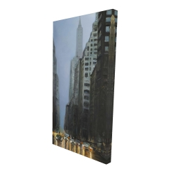 Canvas 24 x 48 - 3D - Evening in the streets of new-york city