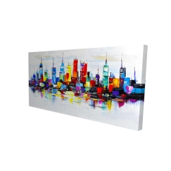 Canvas 24 x 48 - 3D - Abstract and colorful city
