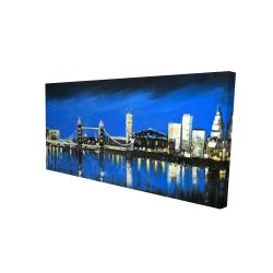 Canvas 24 x 48 - 3D - Blue skyline of london