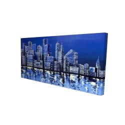 Canvas 24 x 48 - 3D - Blue skyline