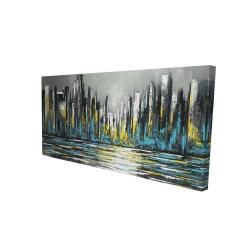 Canvas 24 x 48 - 3D - Abstract blue skyline