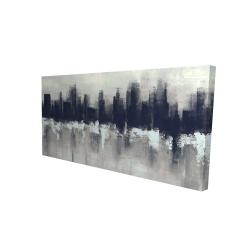 Canvas 24 x 48 - 3D - Dark city