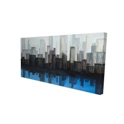 Canvas 24 x 48 - 3D - View of a blue city