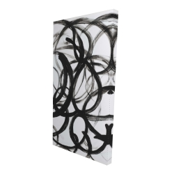 Canvas 24 x 48 - 3D - Abstract curly lines