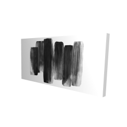 Canvas 24 x 48 - 3D - Black shapes
