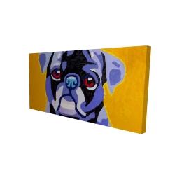 Canvas 24 x 48 - 3D - Flash the pug