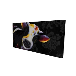 Canvas 24 x 48 - 3D - Funny cow