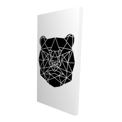 Canvas 24 x 48 - 3D - Geometric bear head