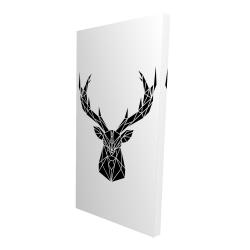Canvas 24 x 48 - 3D - Geometric deer head