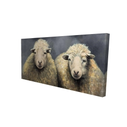 Canvas 24 x 48 - 3D - Wool sheeps