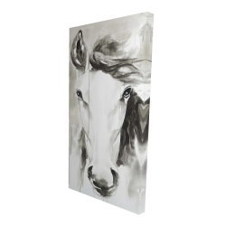 Canvas 24 x 48 - 3D - Beautiful abstract horse
