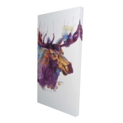 Canvas 24 x 48 - 3D - Abstract moose