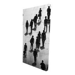 Canvas 24 x 48 - 3D - Silhouettes of people on the street