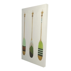 Canvas 24 x 48 - 3D - Colorful nautical oars