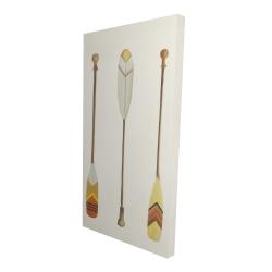 Canvas 24 x 48 - 3D - Canoe paddles