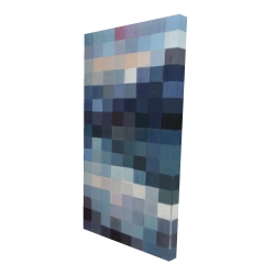 Canvas 24 x 48 - 3D - Pixelated mountainous landscape