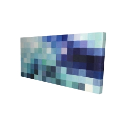 Canvas 24 x 48 - 3D - Pixelized landscape