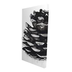 Canvas 24 x 48 - 3D - Pine cone