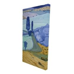 Canvas 24 x 48 - 3D - Tuscany field