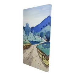 Canvas 24 x 48 - 3D - Tuscany trail