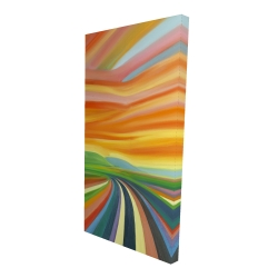 Canvas 24 x 48 - 3D - Colorful road