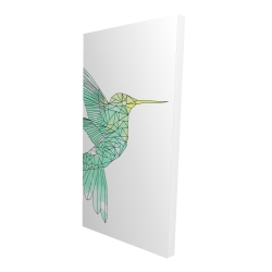 Canvas 24 x 48 - 3D - Geometric hummingbird