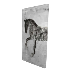 Canvas 24 x 48 - 3D - Horse brown silhouette