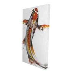 Canvas 24 x 48 - 3D - Butterfly koi fish