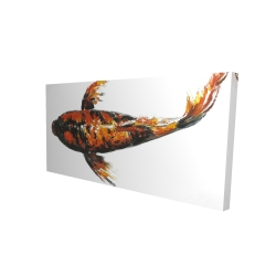 Canvas 24 x 48 - 3D - Red butterfly koi fish