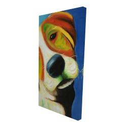 Canvas 24 x 48 - 3D - Colorful beagle dog