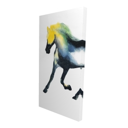 Canvas 24 x 48 - 3D - Galloping colorful horse