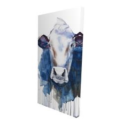 Toile 24 x 48 - 3D - Vache à l'aquarelle