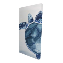 Canvas 24 x 48 - 3D - Blue turtle