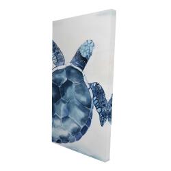 Canvas 24 x 48 - 3D - Blue turtle