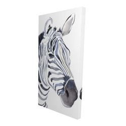 Canvas 24 x 48 - 3D - Watercolor zebra