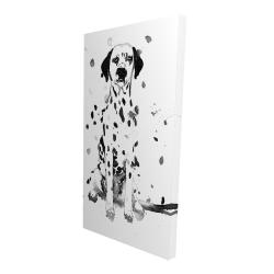 Canvas 24 x 48 - 3D - Dalmatian dog